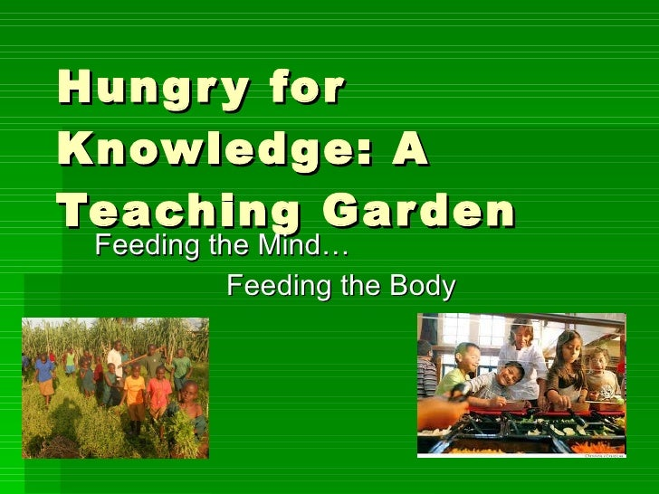 Hungry for Knowledge: A Teaching Garden Feeding the Mind… Feeding the Body