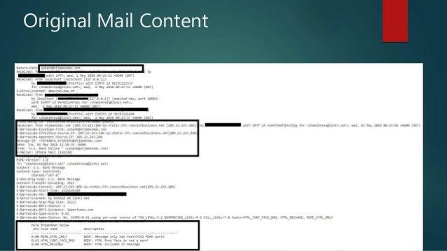 Original Mail Content