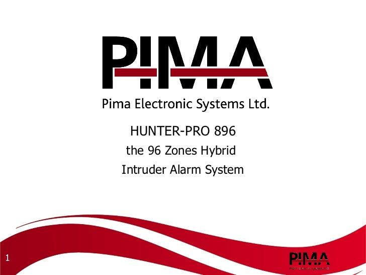 HUNTER-PRO 896 the 96 Zones Hybrid  Intruder Alarm System