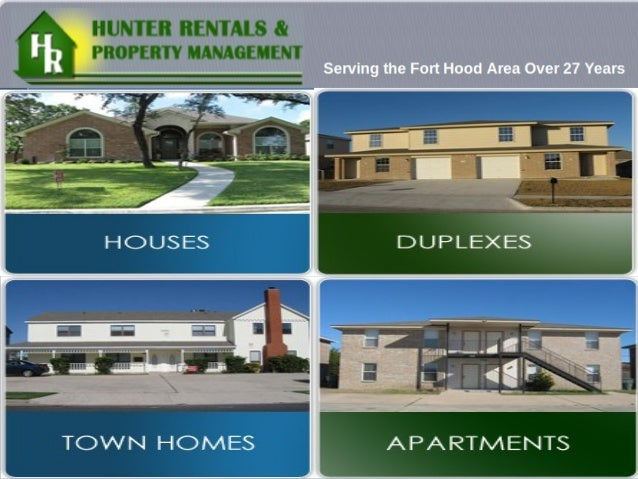 Hunter Rentals & Property Management is a leading property management firm in Killeen, Texas. www.hunterrentals.com