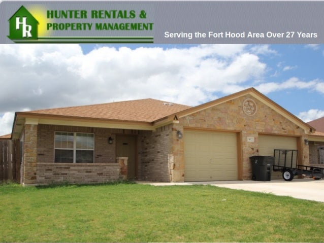Hunter Rentals & Property Management is a Real Estate Firm in Killeen, Texas. www.hunterrentals.com