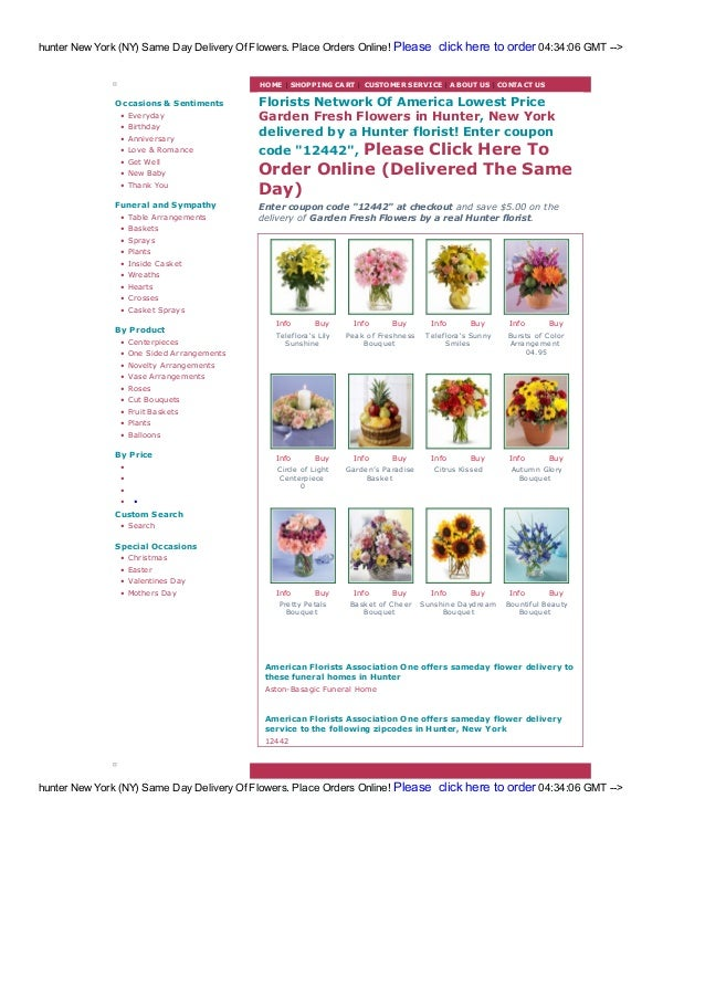 Hunt Flower Shops And Florists Same Day Free Delivery
