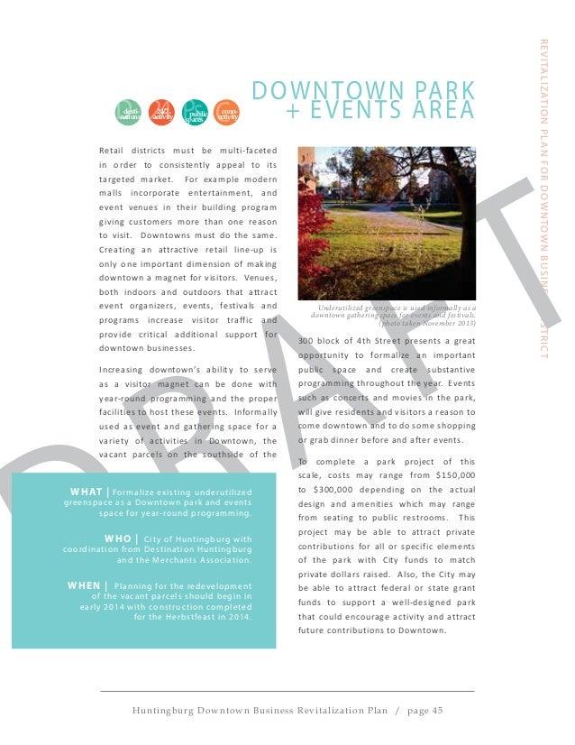 Huntingburg downtown revitalization plan