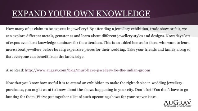 Hunting for wedding jewellery visit jewellery exhibitions