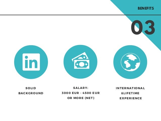 03 SOLID BACKGROUND INTERNATIONAL &LIFETIME EXPERIENCE SALARY: 3000 EUR - 4500 EUR OR MORE (NET) BENEFITS