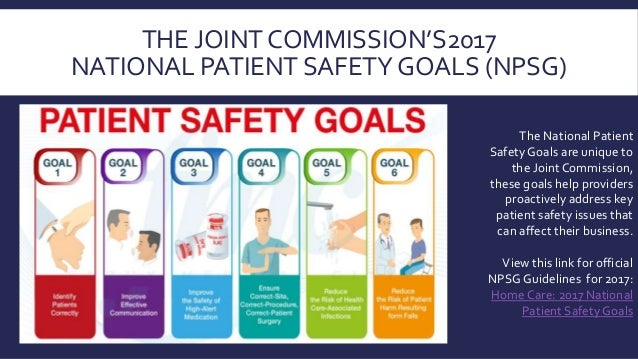 Home Care National Patient Safety Goals