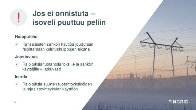 Jos ei onnistuta – isoveli puuttuu peliin Huipputeho  Kansalaisten sähkön käyttöä joudutaan rajoittamaan kulutushuippujen...