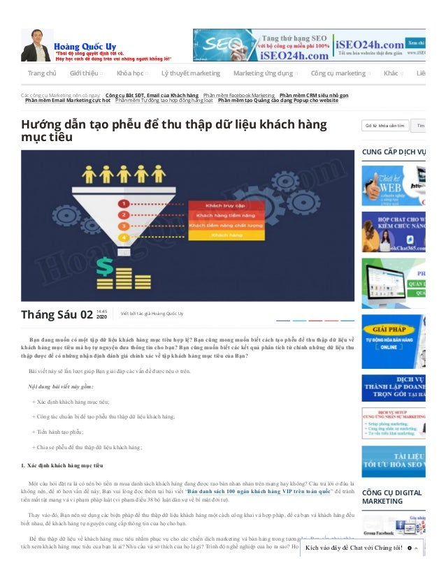 Các công cụ Marketing nên có ngay: Công cụ Bắt SĐT, Email của Khách hàng Phần mềm Facebook Marketing Phần mềm CRM siêu nhỏ...