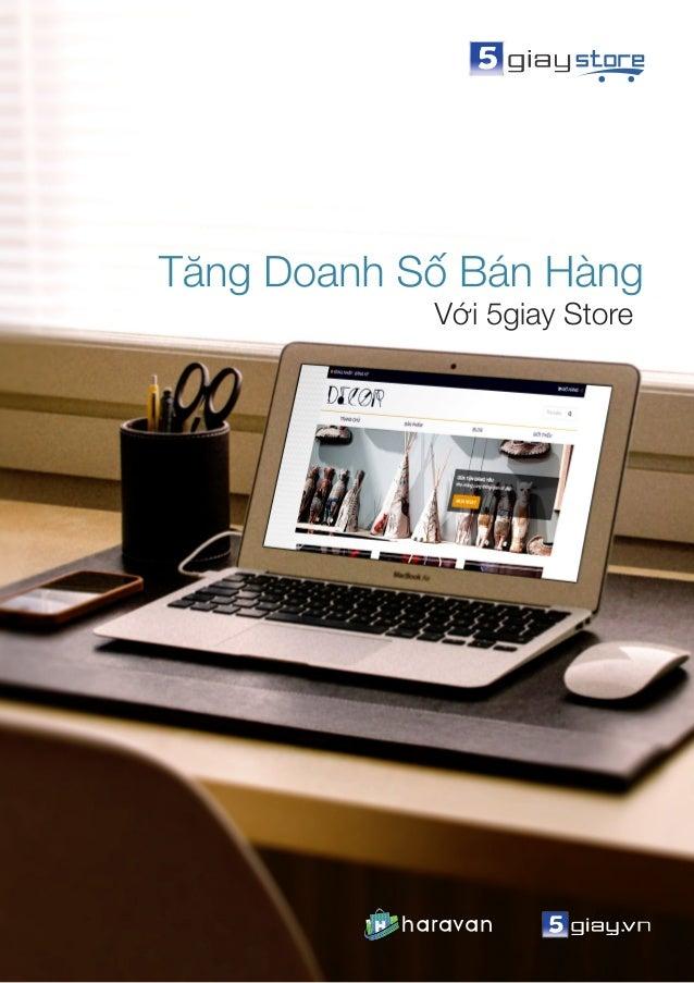 Tăng doanh số bán hàng với 5giay Store 1 Hướng dẫn khởi tạo và sử dụng 5giay store