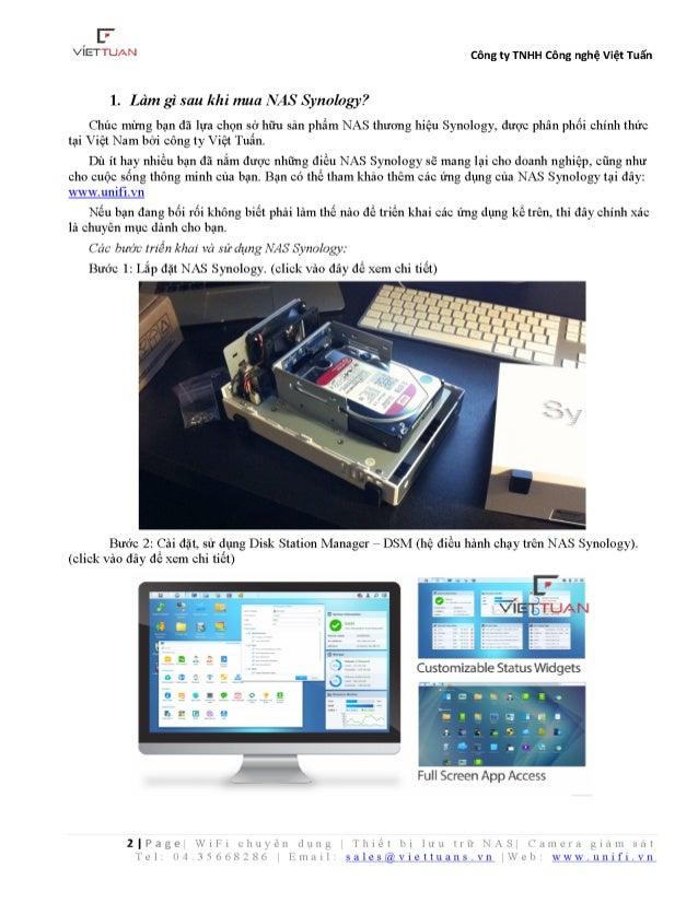 Hướng dẫn cấu hình cài đặt sử dụng thiết bị lưu trữ nas synology Slide 2