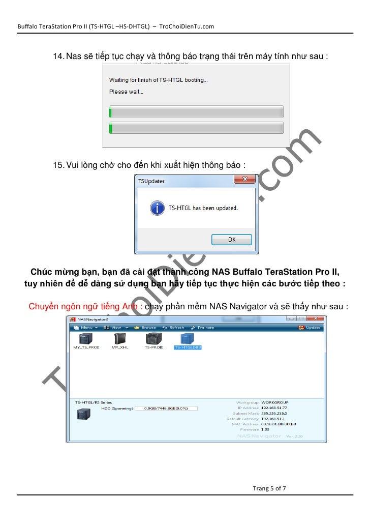 Hướng dẫn cập nhật HDD cho NAS TS-HTGL