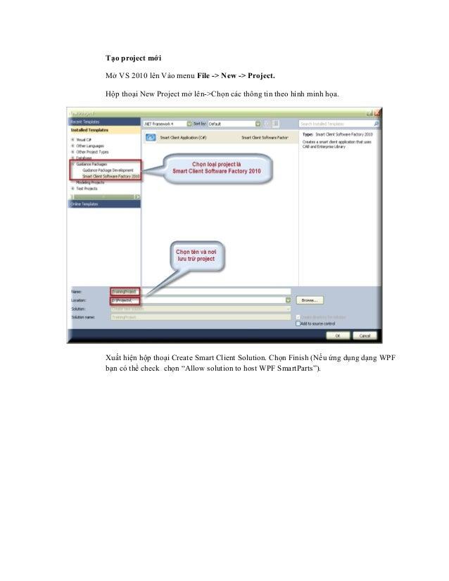 Hướng dẫn lập trình với SCSF phần I (smart client software factory) Slide 2