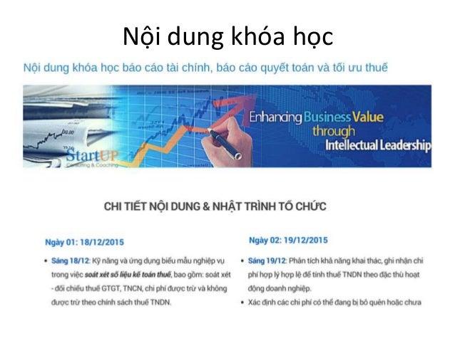Hướng dẫn lập báo cáo tài chính và quyết toán thuế tại Buôn Ma Thuột I 0977 978 949  Slide 3