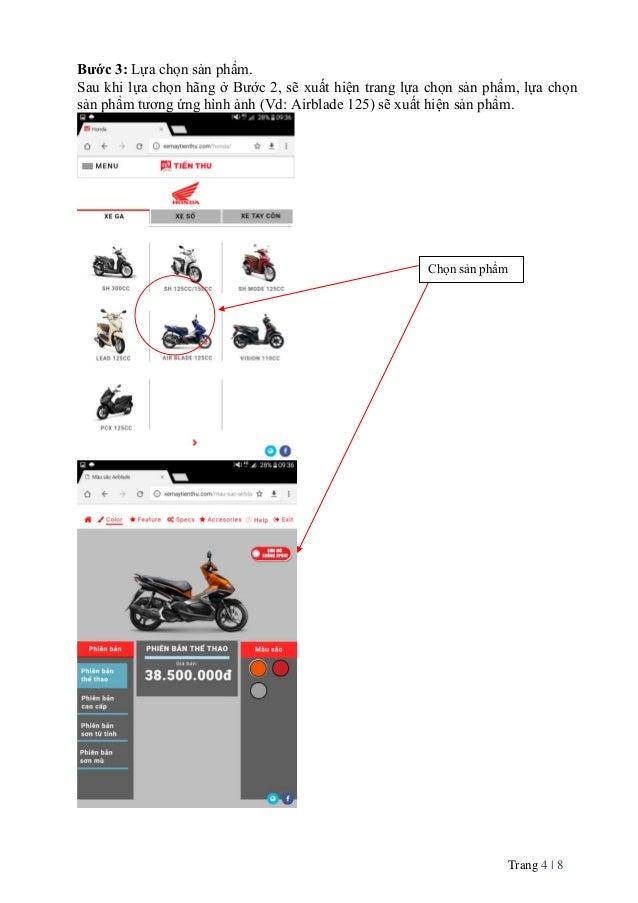Trang 4   8 Bước 3: Lựa chọn sản phẩm. Sau khi lựa chọn hãng ở Bước 2, sẽ xuất hiện trang lựa chọn sản phẩm, lựa chọn sản ...
