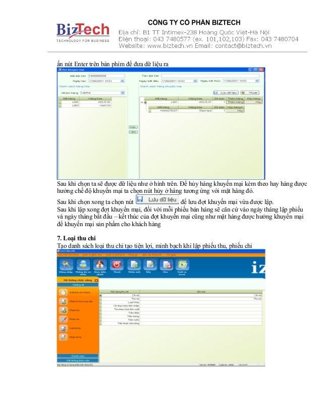 ấn nút Enter trên bàn phím để đưa dữ liệu ra Sau khi chọn ta sẽ được dữ liệu như ở hình trên. Để hủy hàng khuyến mại kèm t...