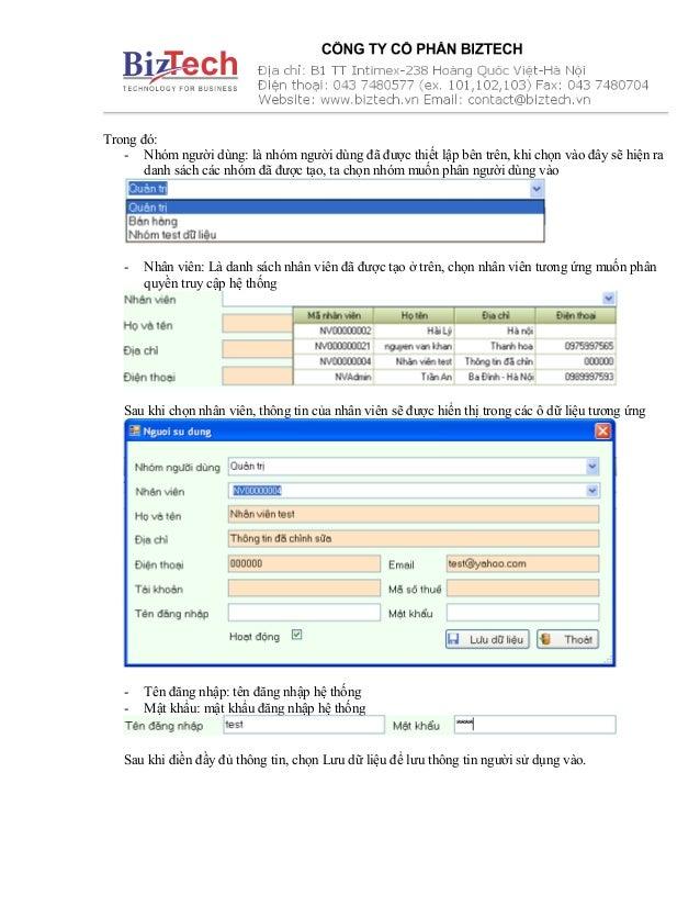 Trong đó: - Nhóm người dùng: là nhóm người dùng đã được thiết lập bên trên, khi chọn vào đây sẽ hiện ra danh sách các nhóm...