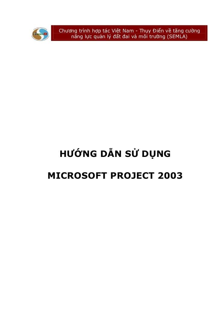 Hướng dẫn sử dụng Microsoft Office Project 2003