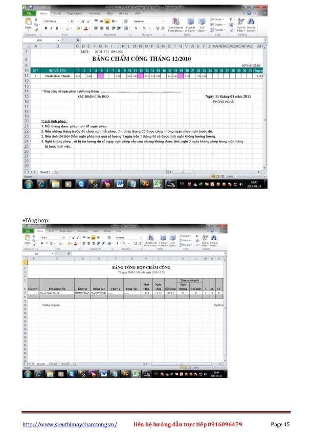 http://www.sieuthimaychamcong.vn/ liên hệ hướng dẫn trực tiếp 0916096479 Page 15 +Tổng hợp: