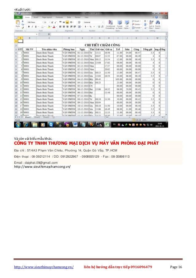 http://www.sieuthimaychamcong.vn/ liên hệ hướng dẫn trực tiếp 0916096479 Page 16 +Xuất lưới: Và còn vài biểumẫukhác. CÔNG ...