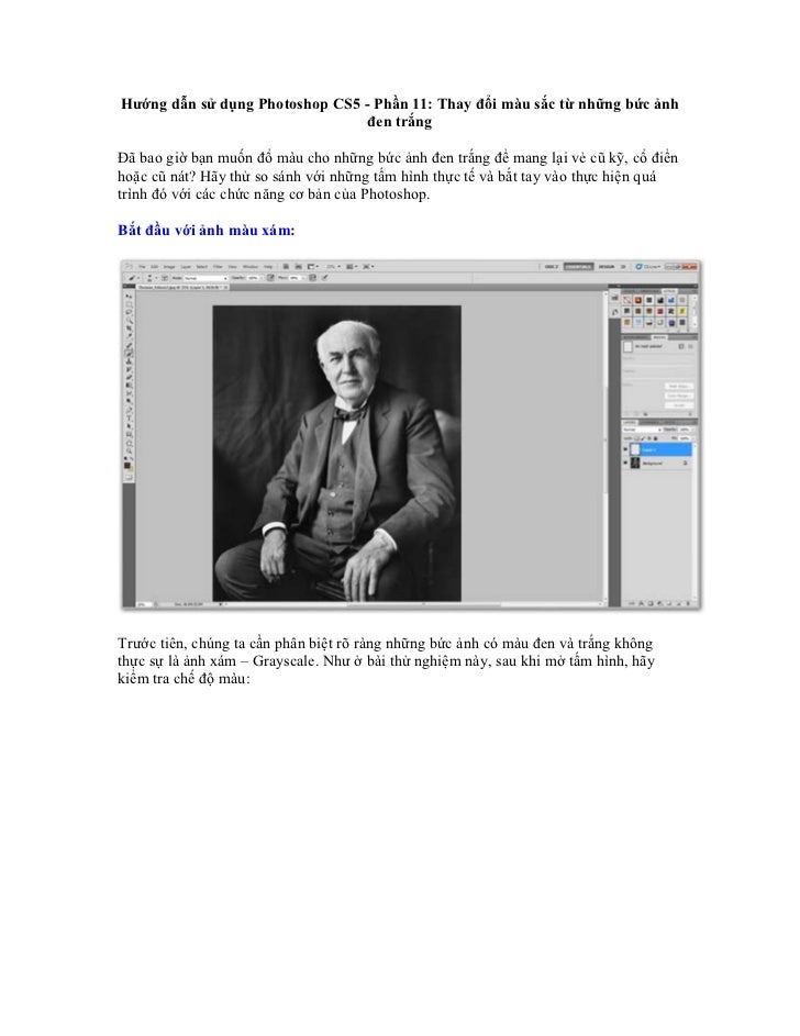 Hướng dẫn sử dụng Photoshop CS5 - Phần 11: Thay đổi màu sắc từ những bức ảnh                                 đen trắngĐã b...