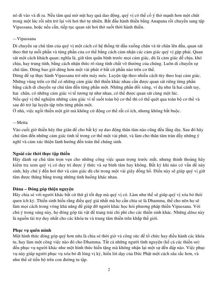 Hướng dẫn thực hành Thiền Vipassana Slide 2