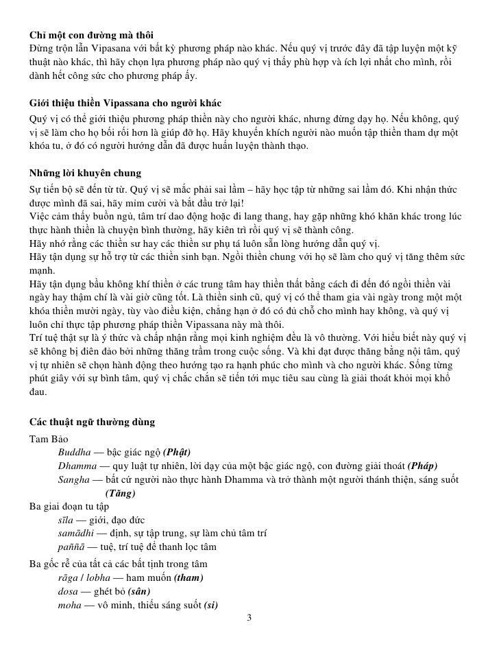 Hướng dẫn thực hành Thiền Vipassana Slide 3