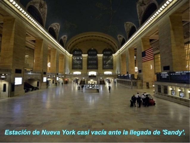 Estación de Nueva York casi vacía ante la llegada de Sandy.