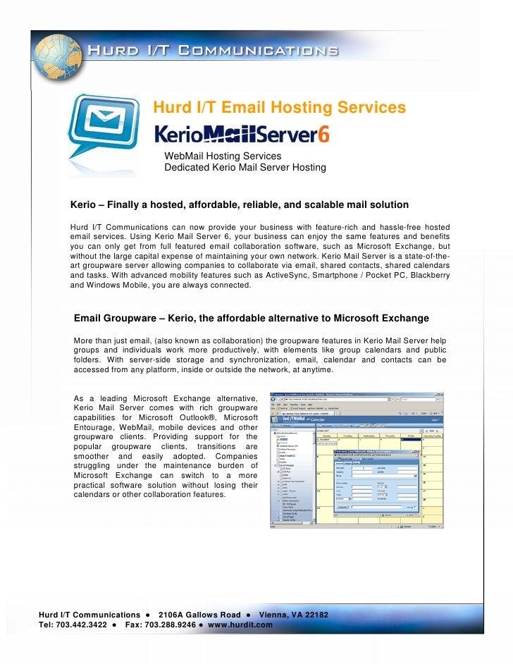 Hurd I/T Email Hosting Services                                  WebMail Hosting Services                                 ...