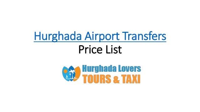 Hurghada Airport Transfers Price List