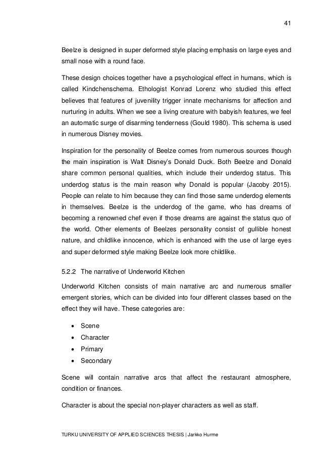 41 TURKU UNIVERSITY OF APPLIED SCIENCES THESIS | Jarkko Hurme Beelze is designed in super deformed style placing emphasis ...
