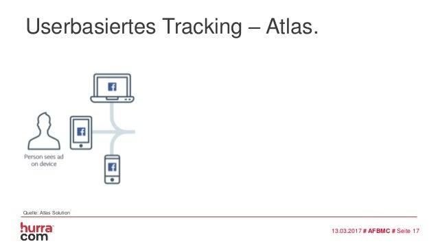Userbasiertes Tracking – Atlas. 13.03.2017 # AFBMC # Seite 17 Quelle: Atlas Solution