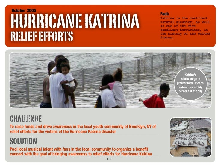 an analysis of the hurricane catrina relief Cost of hurricane katrina relief and rebuilding by richards • july 16,  towers watson, hurricane katrina: analysis of the impact on the insurance industry (2005.