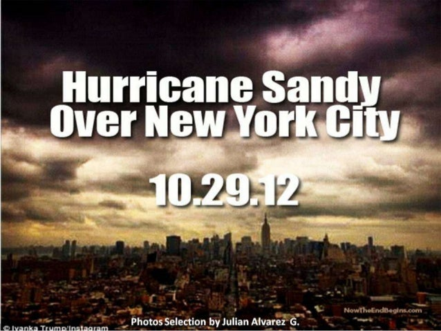 Hurricane over new york city