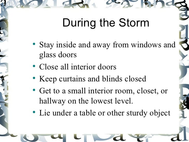 Hurricane Preparation And Safety