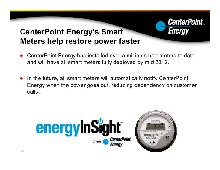 Center Point Power Meter : Centerpoint energy preparing for a hurricane and its