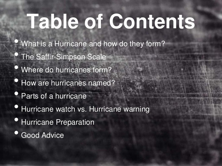 Hurricane Facts (Updated May 2011)