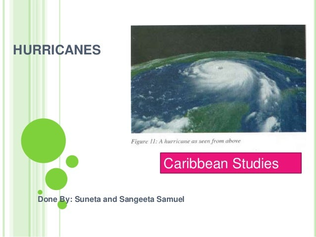 HURRICANES Done By: Suneta and Sangeeta Samuel Caribbean Studies