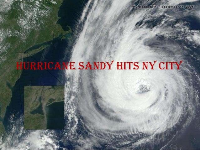 Hurricane sandy hits ny city