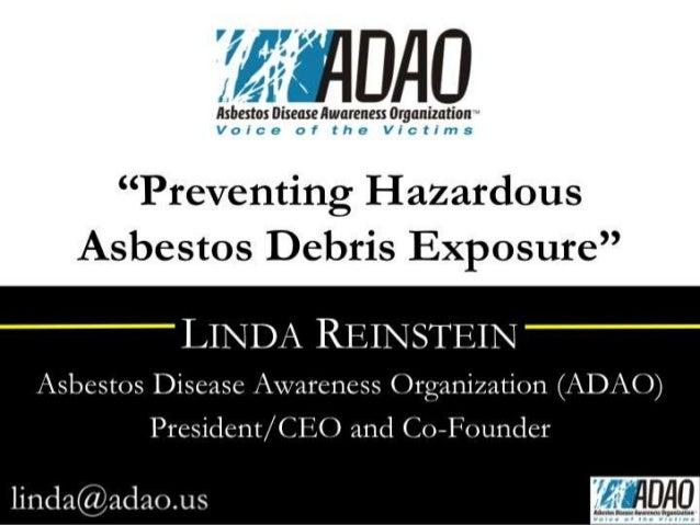 Preventing Hazardous Asbestos Debris Exposure