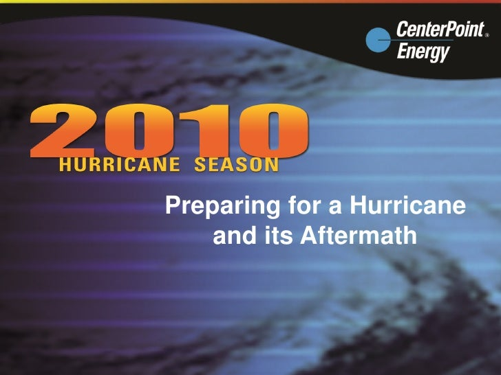 Preparing for a Hurricane     and its Aftermath