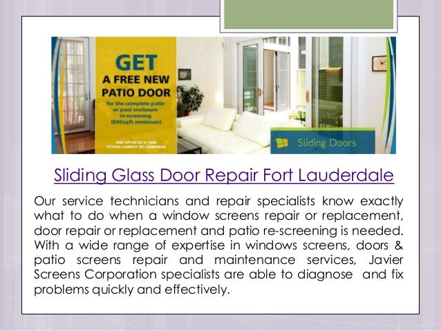 Perfect Sliding Glass Door Repair Fort Lauderdale ...