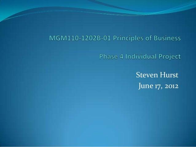 Steven Hurst June 17, 2012