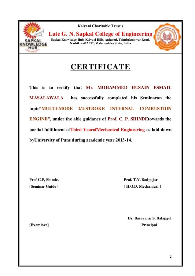 Certificate format of seminar report images certificate design certificate format of seminar report thank you for visiting yadclub nowadays were excited to declare that we have discovered an incredibly interesting yelopaper Images