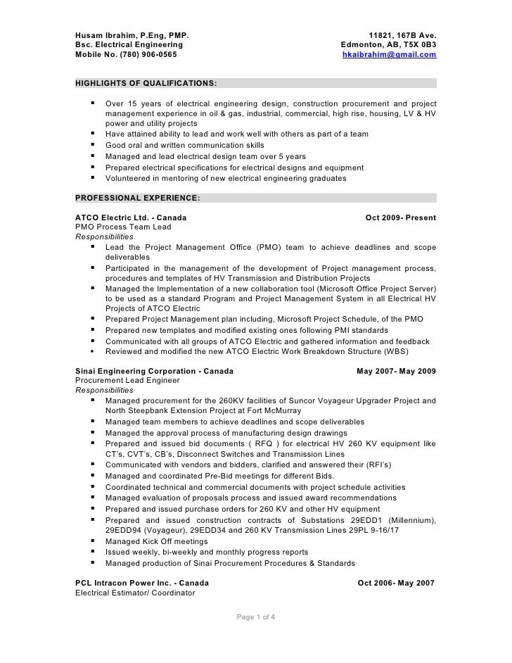 Electrical Estimator Resume Boatremyeaton