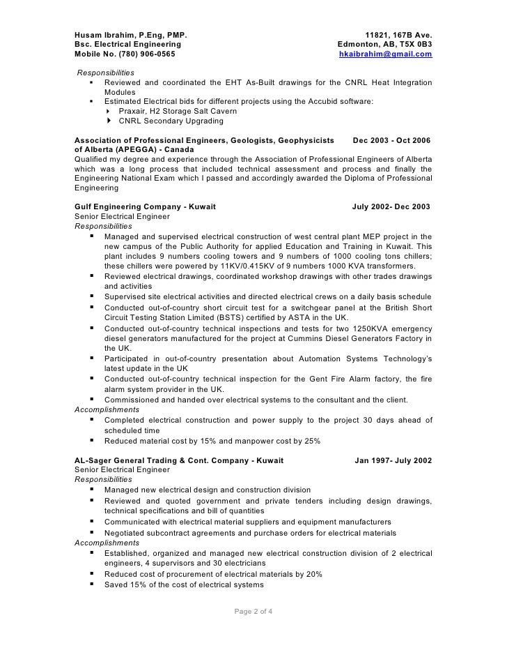 Electrical Engineer Resume Samples VisualCV Resume Samples Database Yangi