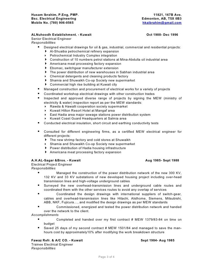 electrical engineer resume sample experienced electrical engineer electrical engineering resume sample electrical engineering resume sample canada