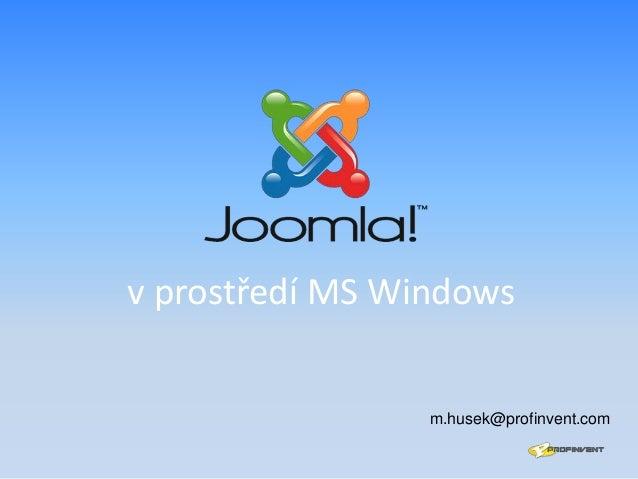 v prostředí MS Windows  m.husek@profinvent.com