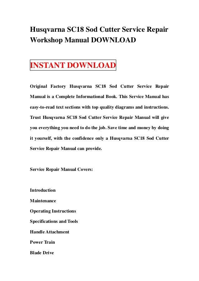 husqvarna sc18 sod cutter service repair workshop manual download