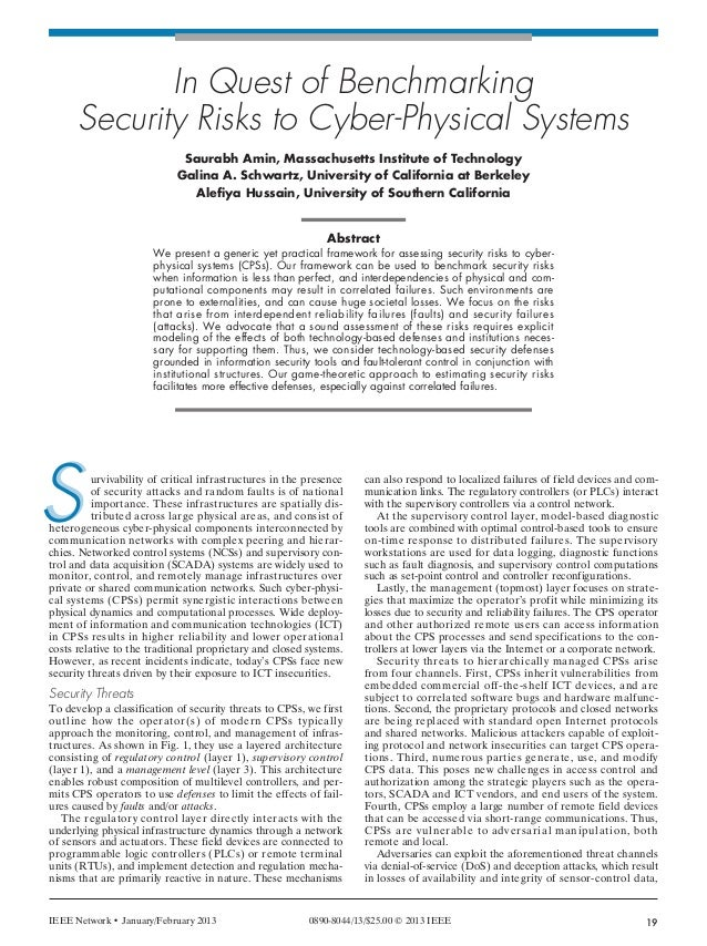 AMIN LAYOUT_Layout 1 1/15/13 2:46 PM Page 19                     In Quest of Benchmarking              Security Risks to C...