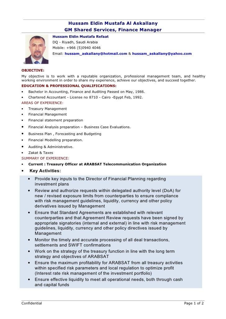cv chartered accountant
